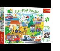 14273 36 Puzzle z okienkiem - Pojazdy / Trefl, Puzzle, Zabawki