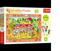 15535 70 Obserwacyjne - Odwiedzamy stadninę koni / Trefl, Puzzle, Zabawki