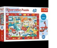 15537 70 Obserwacyjne - Odwiedzamy remizę strażacką / Trefl, Puzzle, Zabawki