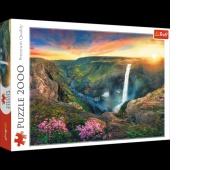 27091 2000 - Wodospad Haifoss, Islandia / 500px_L, Puzzle, Zabawki