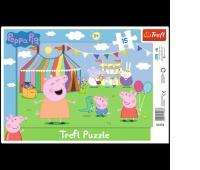 31276 15 Ramkowe - W wesołym miasteczku / Peppa Pig, Puzzle, Zabawki