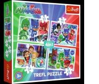 34299 4w1 - Drużyna pidżamersów / E1 PJ Masks, Puzzle, Zabawki