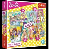34301 4w1 - Kariera Barbie / Mattel, Barbie, Puzzle, Zabawki