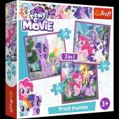34823 3w1 - Magia przyjaźni / Hasbro My Little Pony Movie 2017, Puzzle, Zabawki