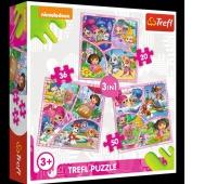34828 3w1 - Dołącz do naszej zabawy / Viacom Nick Jr Multi-Property, Puzzle, Zabawki