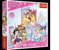 34833 3w1 - Zaczarowany świat księżniczek / Disney Princess, Puzzle, Zabawki