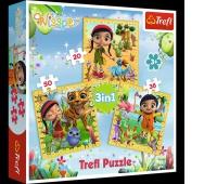 34834 3w1 - Wspólne podróże / M4E Wissper, Puzzle, Zabawki