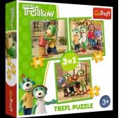 34838 3w1 - Zabawy Treflików / Studio Trefl Rodzina Treflików, Puzzle, Zabawki