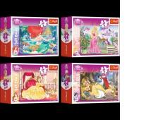 54105 54 Mini - Księżniczki / Disney Princess, Puzzle, Zabawki