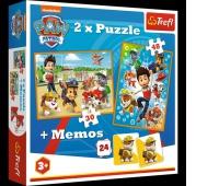 90790 2w1 + memos - Psi Patrol na ratunek / Viacom PAW Patrol, Puzzle, Zabawki