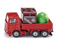 S0828 Siku 08 - Ciężarówka z pojemnikami na odpady, Zabawki