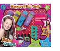 KREDA DO WŁOSÓW 4 KOL. + akcesoria manicure, Produkty kreatywne, Zabawki