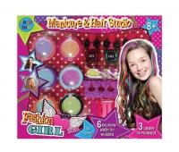 KREDA DO WŁOSÓW 6 KOL. + akcesoria manicure, Produkty kreatywne, Zabawki