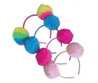 OPASKA z POMPONAMI mix 4 kolorów - display, Produkty kreatywne, Artykuły dekoracyjne