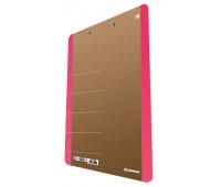 Clipboard DONAU Life, karton, A4, z klipsem, różowy, Clipboardy, Archiwizacja dokumentów