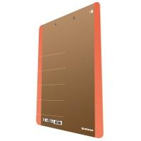 Clipboard DONAU Life, karton, A4, z klipsem, pomarańczowy, Clipboardy, Archiwizacja dokumentów