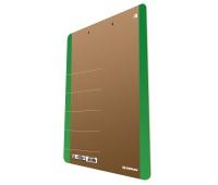 Cardboard clipoard DONAU Life, A4, with a clip, green