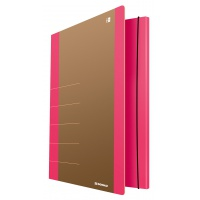 Cardboard folder with elastic band DONAU Life, 500gsm, A4, pink