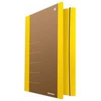 Cardboard folder with elastic band DONAU Life, 500gsm, A4, yellow