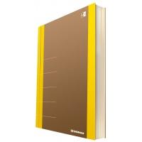 Notatnik DONAU Life, organizer, 165x230mm, 100 kart., żółty, Notatniki, Zeszyty i bloki