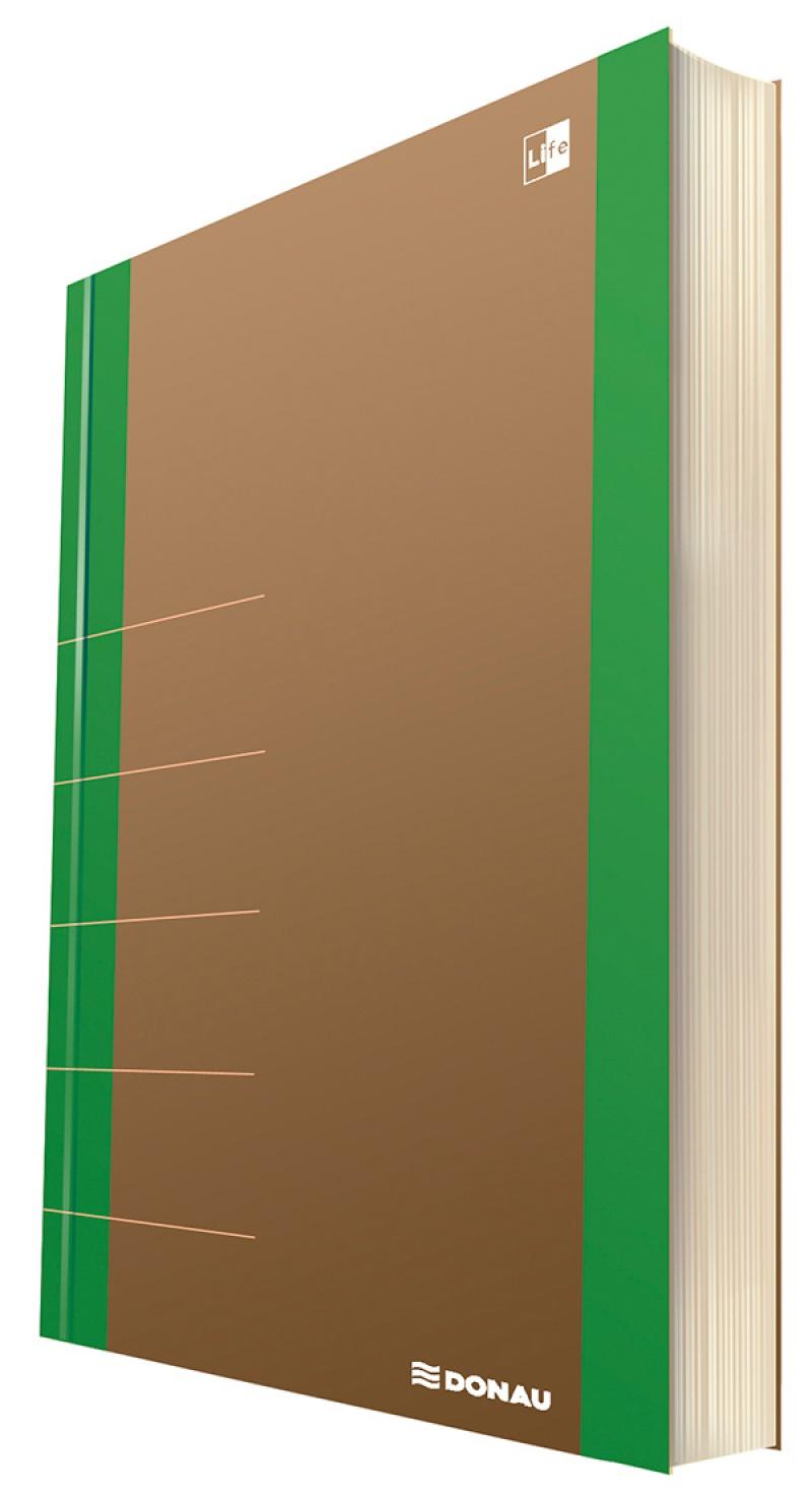 Notatnik DONAU Life, organizer, 165x230mm, 100 kart., zielony, Notatniki, Zeszyty i bloki