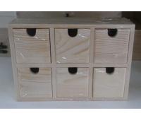 PUDEŁKO DREWNIANE Z SZUFLADKAMI 21x7,5x14,5 cm, Podkategoria, Kategoria