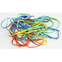 Rubber Bands 0. 1kg diameter 102mm assorted colours