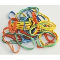 Rubber Bands Q-CONNECT, 0. 1kg, diameter 50mm, assorted colours