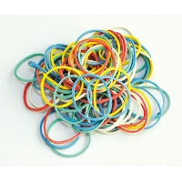 Rubber Bands Q-CONNECT, 250g, diameter 25mm, assorted colours