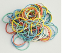 Rubber Bands Q-CONNECT, 25g, assorted colours