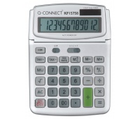 Calculator, Desktop, Q-CONNECT, 12-digit, 140x180mm, grey