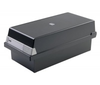 Card Index Box HAN Kartei, covered (with a lid), polystyrene, A5, black