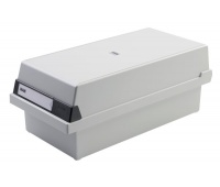 Card Index Box HAN Kartei, covered (with a lid), polystyrene, A5, grey