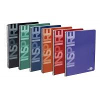 Kołonotatnik Inspire A4 w kratkę 160 kart. 60gsm perforacja, Kołonotatniki, Zeszyty i bloki