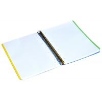 Kołonotatnik LIDERPAPEL Inspire, A4, w kratkę, 160 kart., 60gsm, perforacja, Kołonotatniki, Zeszyty i bloki