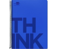 Spiral Notebook LIDERPAPEL Think, A4, square ruled, 160sheets, 70gsm, perforation