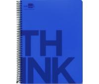 Kołonotatnik LIDERPAPEL Think, A4, w kratkę, 160 kart., 70gsm, perforacja, Kołonotatniki, Zeszyty i bloki