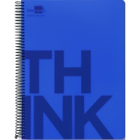 Kołonotatnik Think A4 w kratkę 160 kart. 70gsm perforacja, Kołonotatniki, Zeszyty i bloki
