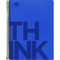 Kołonotatnik Think A5 w kratkę 160 kart. 70gsm perforacja, Kołonotatniki, Zeszyty i bloki