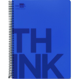 Kołonotatnik LIDERPAPEL Think, A5, w kratkę, 160 kart., 70gsm, perforacja, Kołonotatniki, Zeszyty i bloki