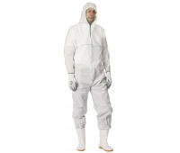 Overall Chemsafe, hooded, size L, white