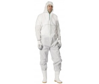 Overall Chemsafe, hooded, size M, white