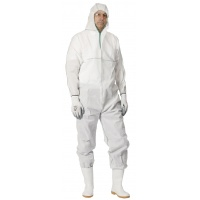Overall Chemsafe, hooded, size XL, white