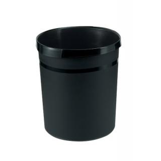 Kosz na śmieci HAN Grip, PP, 18l, czarny, Kosze plastik, Wyposażenie biura