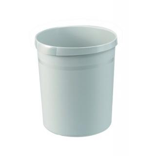 Kosz na śmieci HAN Grip, PP, 18l, szary, Kosze plastik, Wyposażenie biura