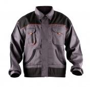 Work Jacket econ. (BE-01-002), cotton/polyester, size 48, grey-orange