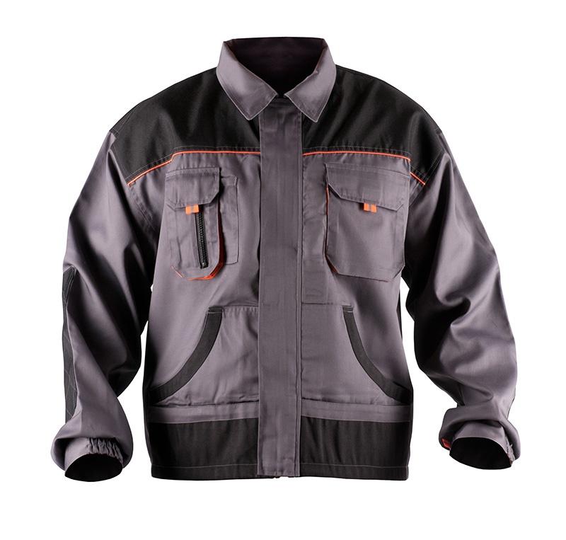 Kurtka ekon. Jack (BE-01-002) bawełna/poliester rozm. 48 szaro-pomarańczowy, Kurtki, Ochrona indywidualna