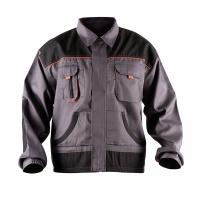 Work Jacket econ. (BE-01-002), cotton/polyester, size 52, grey-orange
