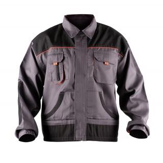 Kurtka ekon. Jack (BE-01-002), bawełna/poliester, rozm. 52, szaro-pomarańczowy, Kurtki, Ochrona indywidualna