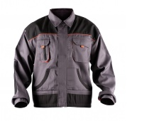 Work Jacket econ. (BE-01-002), cotton/polyester, size 54, grey-orange